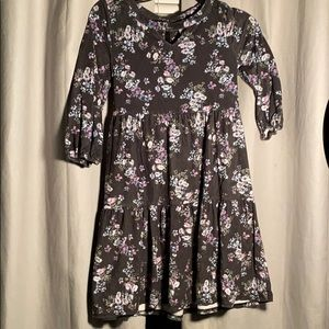 Girls Justice Gray/Purple Floral Dress Size 8